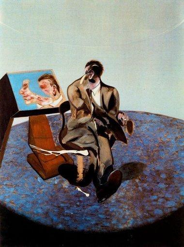George Dyer en un espejo
