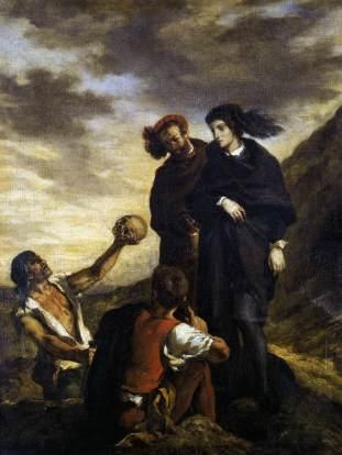 Hamlet y Horacio en el cementerio