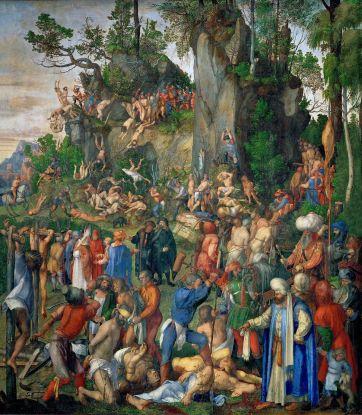 El martirio de los diez mil cristianos