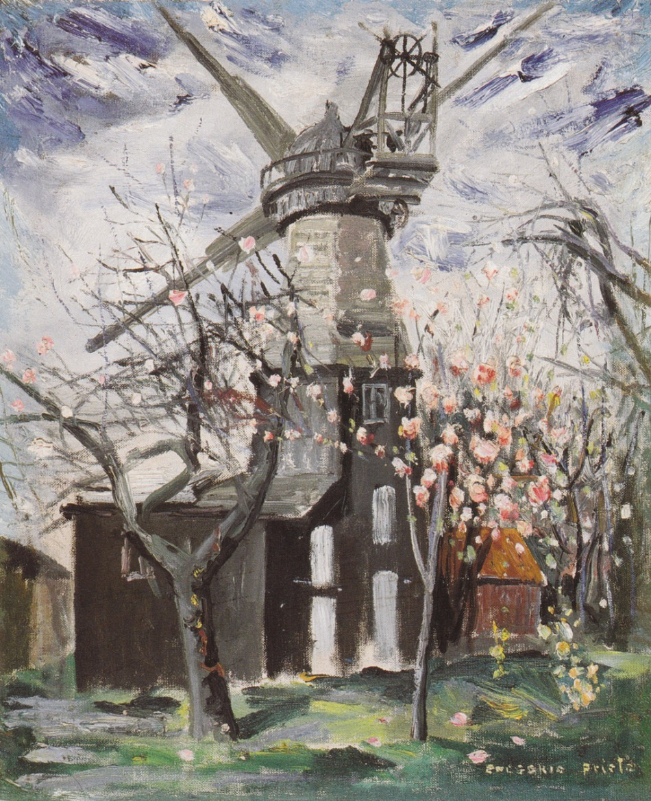 molino-ingles-con-almendro-en-flor-1948