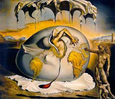 Niño geopolítico observando el nacimiento del nuevo hombre