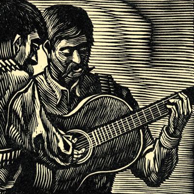 Woodcut, Francisco Moreno Capdevila