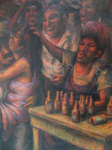 The Dark Corner of the Dance Hall Oil on Canvas, Benito Messeguer