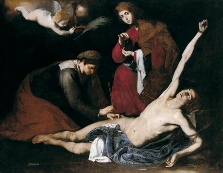 San Sebastián curado por las Santas Mujeres de José de Ribera
