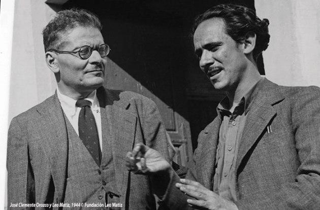 José Clemente Orozco y Leo Matiz, 1944 © Acervo Fundación Leo Matiz